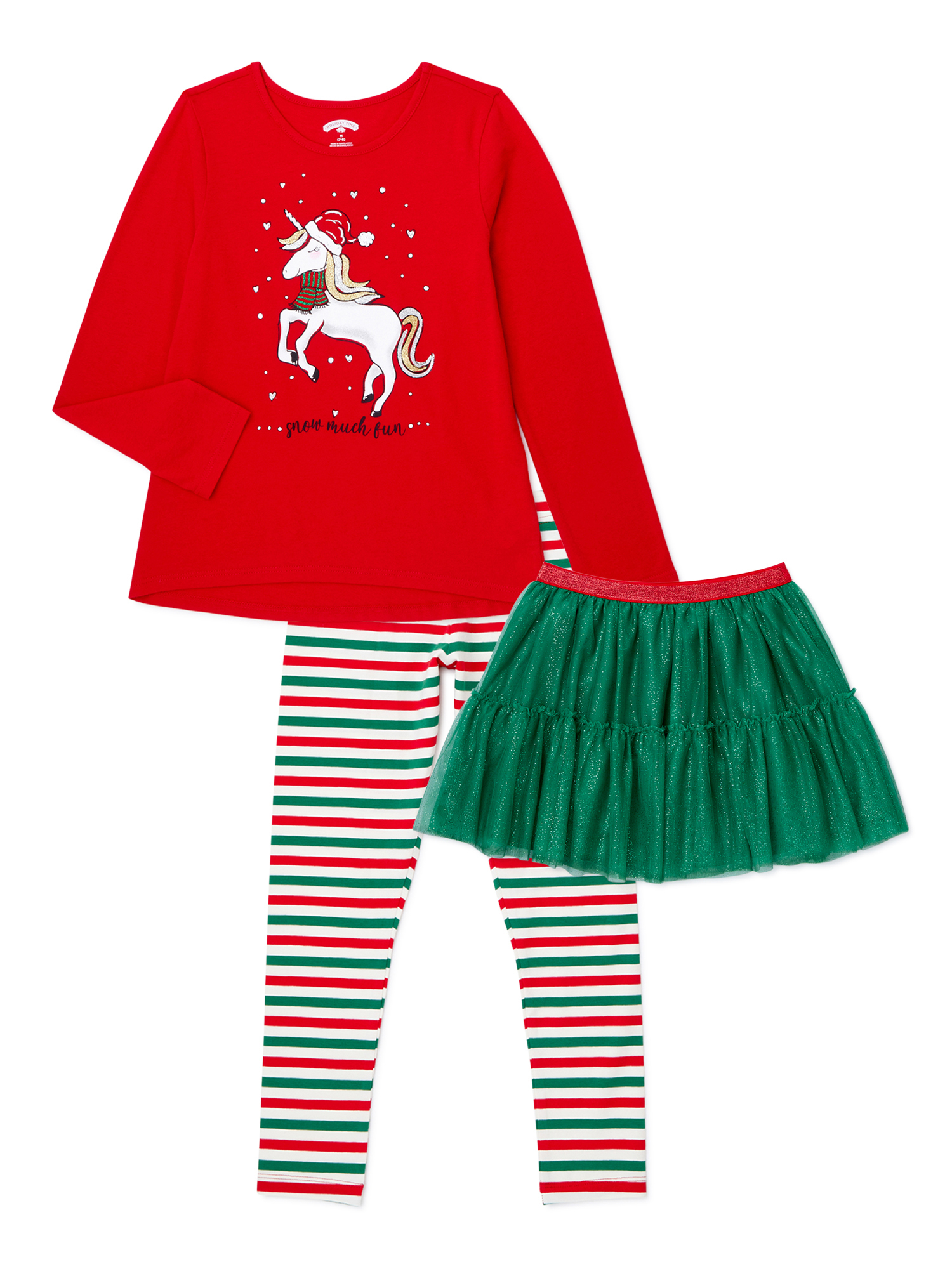 Christmas toddler girl shirt 2T 3T 4T 5T red gold trim Shine Bright Reindeer