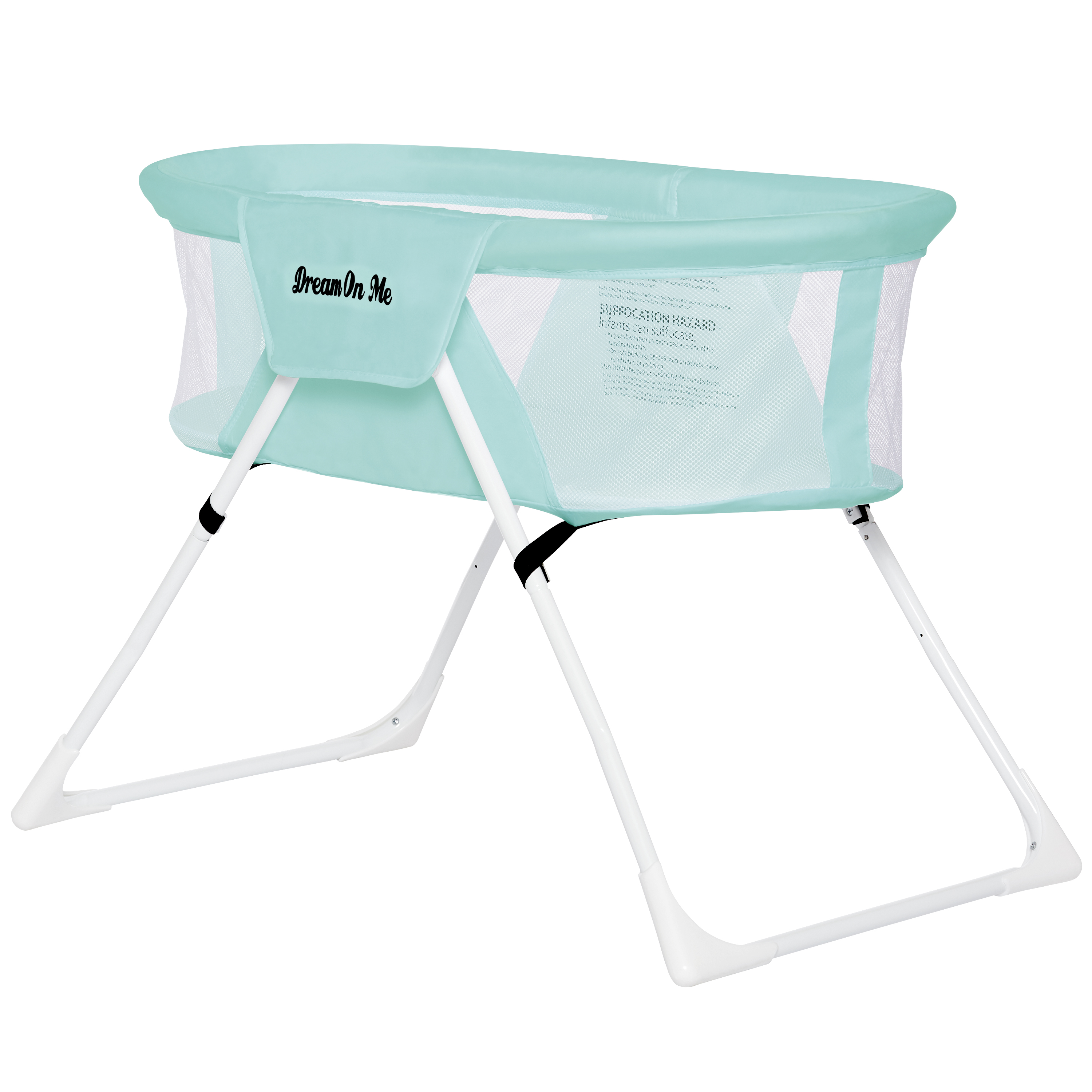 Click here to buy Dream On Me Mackenzie Portable Bassinet In Aqua by Dream On Me.