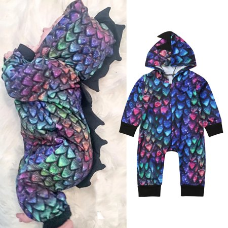 Novelty Newborn Infant Baby Girl Boy Dinosaur Romper Bodysuit Jumpsuit Outfits Set Clothes - Dinosaur Onesie