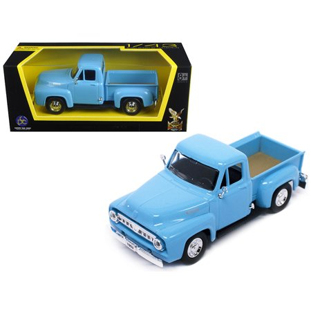 1953 Ford F-100 Pick Up Truck Light Blue 1/43 Diecast Car Model by Road - 1953 Ford F100