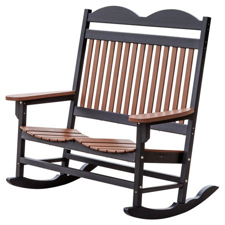 Wildridge Heritage Traditional Patio Double Seat Plastic Rocker