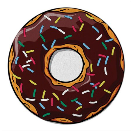Round Towel Co. Foodie Chocolate Donut 100pct Cotton Beach Towel - Donut Tower