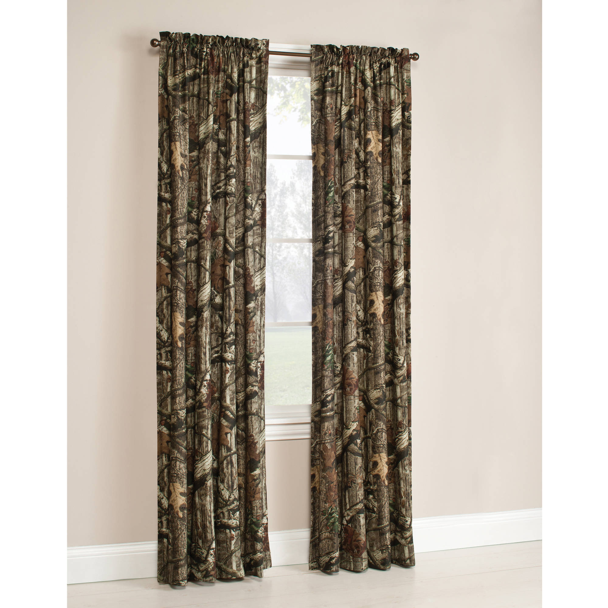 Mossy Oak Break-Up Infinity Camouflage Print Window Curtain Panels by