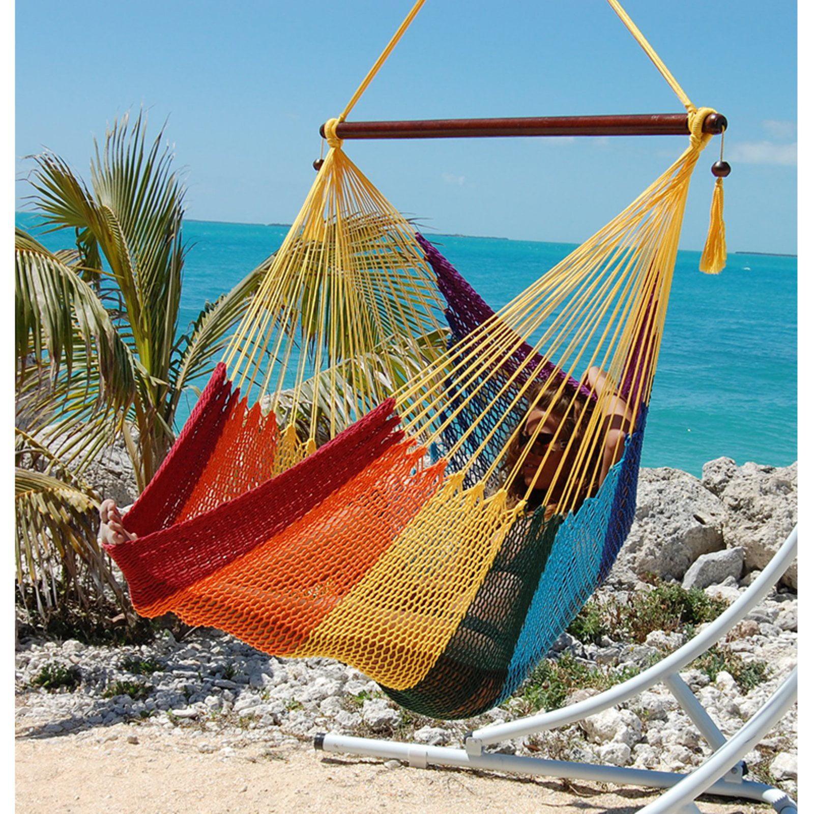 Caribbean Hammock Chair - Rainbow - Walmart.com - Walmart.com