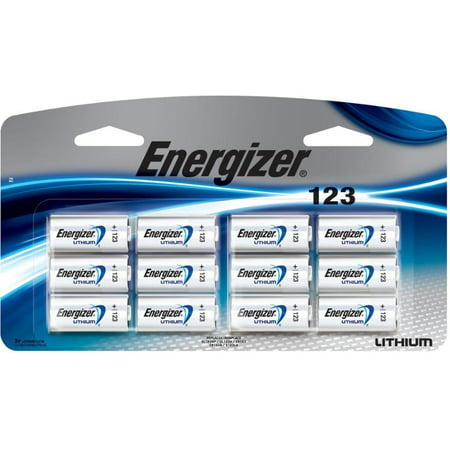 12 NEW Energizer CR123A Lithium 3V Battery for EL123 SF123 DL123 FRESH