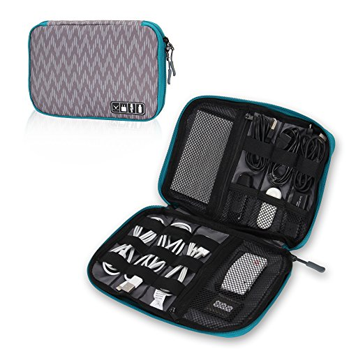 Hynes Eagle Travel Universal Cable Organizer Electronics Accessories Cases For Various USB, Phone, Charger and Cable