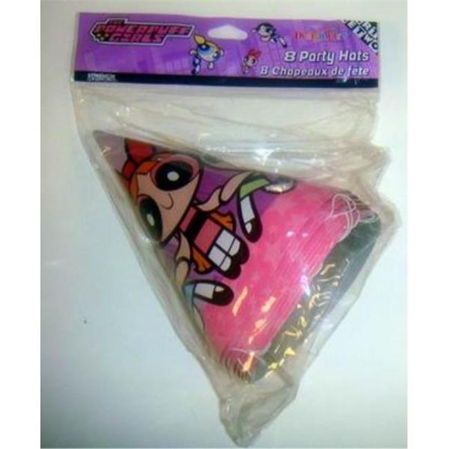 Bulk Buys Powerpuff Girls Pack of 8 Decorative Party Hats - Case of 72