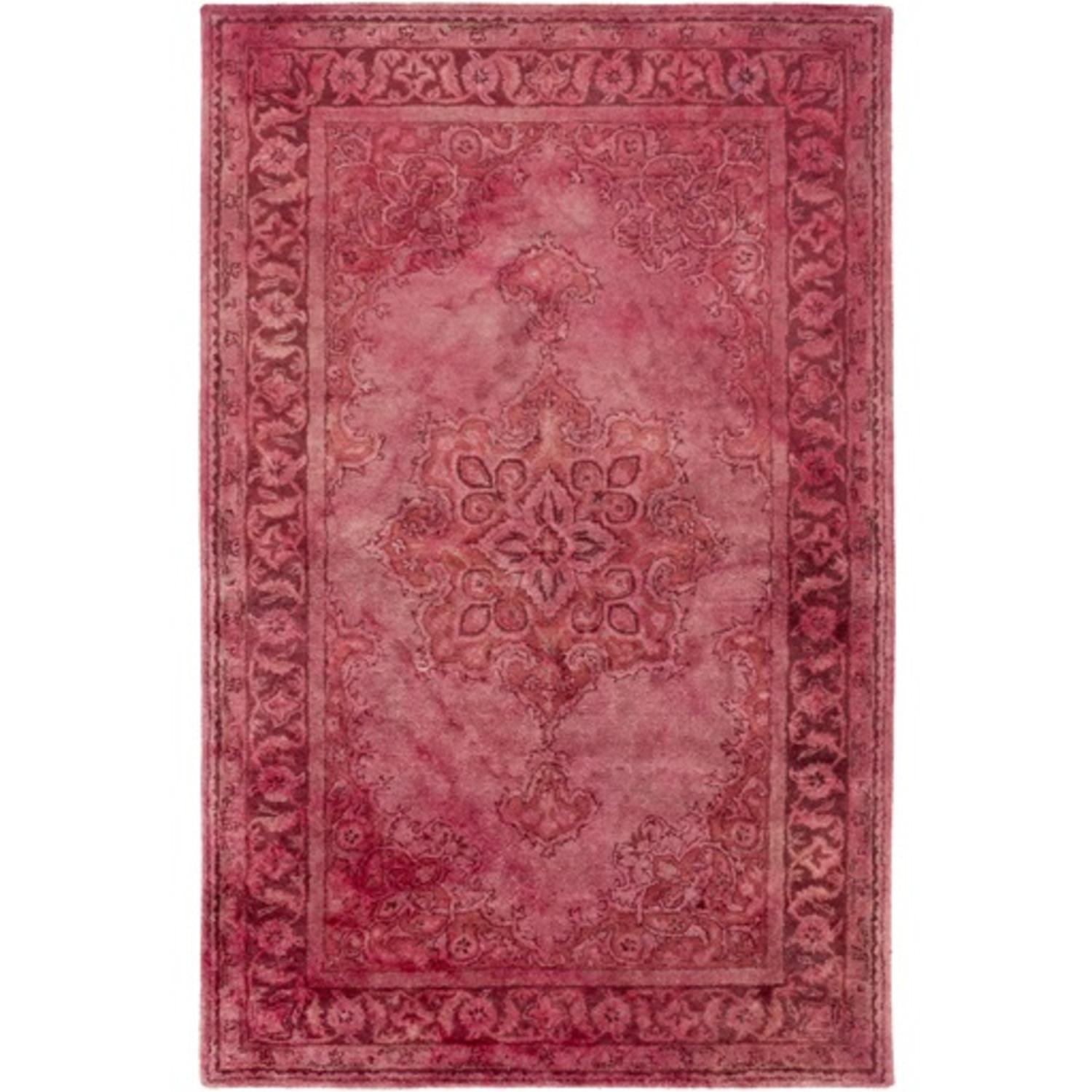 8' x 11' Cycladic Fantasy Cranberry Red and Pink Hand Tufted Area Throw Rug
