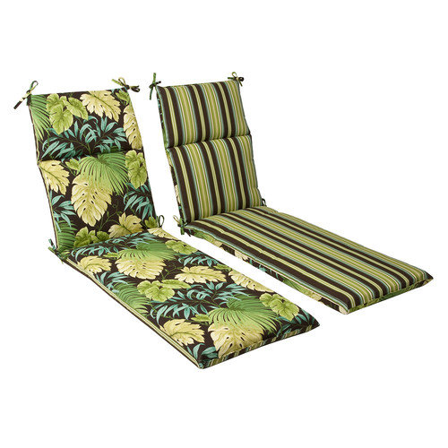 Pillow Perfect Outdoor/ Indoor Tropique Lyndhurst Green Chaise Lounge Cushion