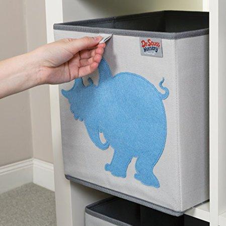 Trend Lab Dr. Seuss Horton Storage Bin, Blue/Gray for $<!---->