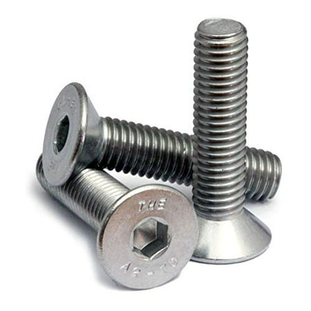 (20) M3-0.50 x 10mm (FT) - Stainless Steel Flat Head Socket Caps Screws Countersunk DIN 7991 - A2-70/18-8 - MonsterBolts (20, M3 x 10mm)
