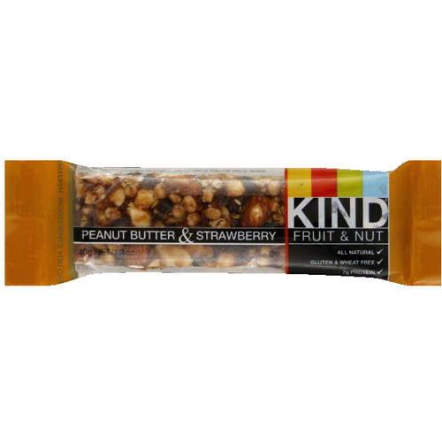 KIND Fruit & Nut Peanut Butter & Strawberry Snack Bar, 1.4 oz (Pack of 12)