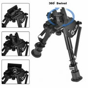 NEW 6-9 Inches Hunting Rifle Bipod, Spring Return, w/ 360 Degree Swivel 20MM Rail Mount Adapter