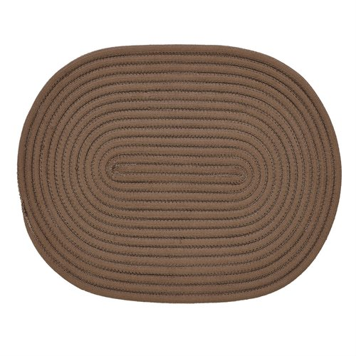 "Springy Braid 20"" x 30"" Braided Rug Chocolate by Pan Overseas LLC"