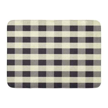 KDAGR Gray Buffalo Abstract Scott Pattern Black and White Plaid Check Flannel Doormat Floor Rug Bath Mat 23.6x15.7 inch Black White Plaid Check Flannel