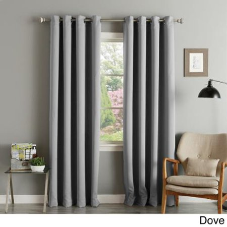 Aurora Home Silver Grommet Top Thermal Insulated 108 Inch Blackout Curtain Panel Pair Dove