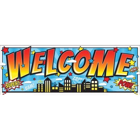 SUPERHERO MAGNETIC WELCOME BANNER](Welcome Banner)