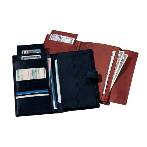 Royce Leather International Passport Travel Document Wallet in Genuine Leather