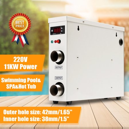 Image of 11KW 220V Electric Tankless Water Heater Thermostat For Swimming Pool SPA Hot Tub New
