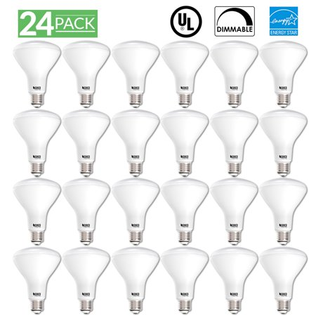 Sunco Lighting 24 Pack BR30 LED Light Bulb 11 Watt (65 Equivalent) 5000K Kelvin Daylight 850 Lumens, 25,000 Hours, Flood, Dimmable, Indoor / Outdoor, Home, Office And More - UL - 850 Light Bulb