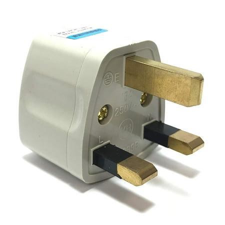 Seven Star Universal Travel Plug Adapters For UK, Ireland UAE Multi-packs (1 Pack, For UK, Ireland & UAE - 3 Pins - Type G, White) (G Star Online Bestellen)