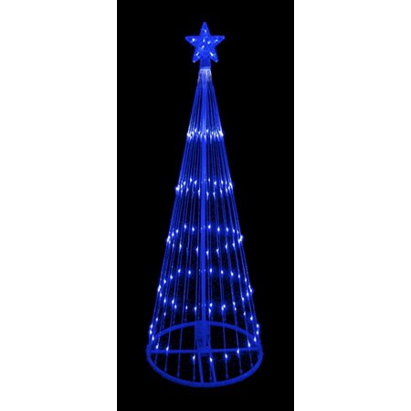 9 blue led light show cone christmas tree lighted yard art decoration - Lighted Christmas Tree Yard Decorations