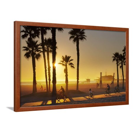 The South Bay Bicycle Trail at Sun Set. Framed Print Wall Art By Jon (Best Bike Trails In Bay Area)