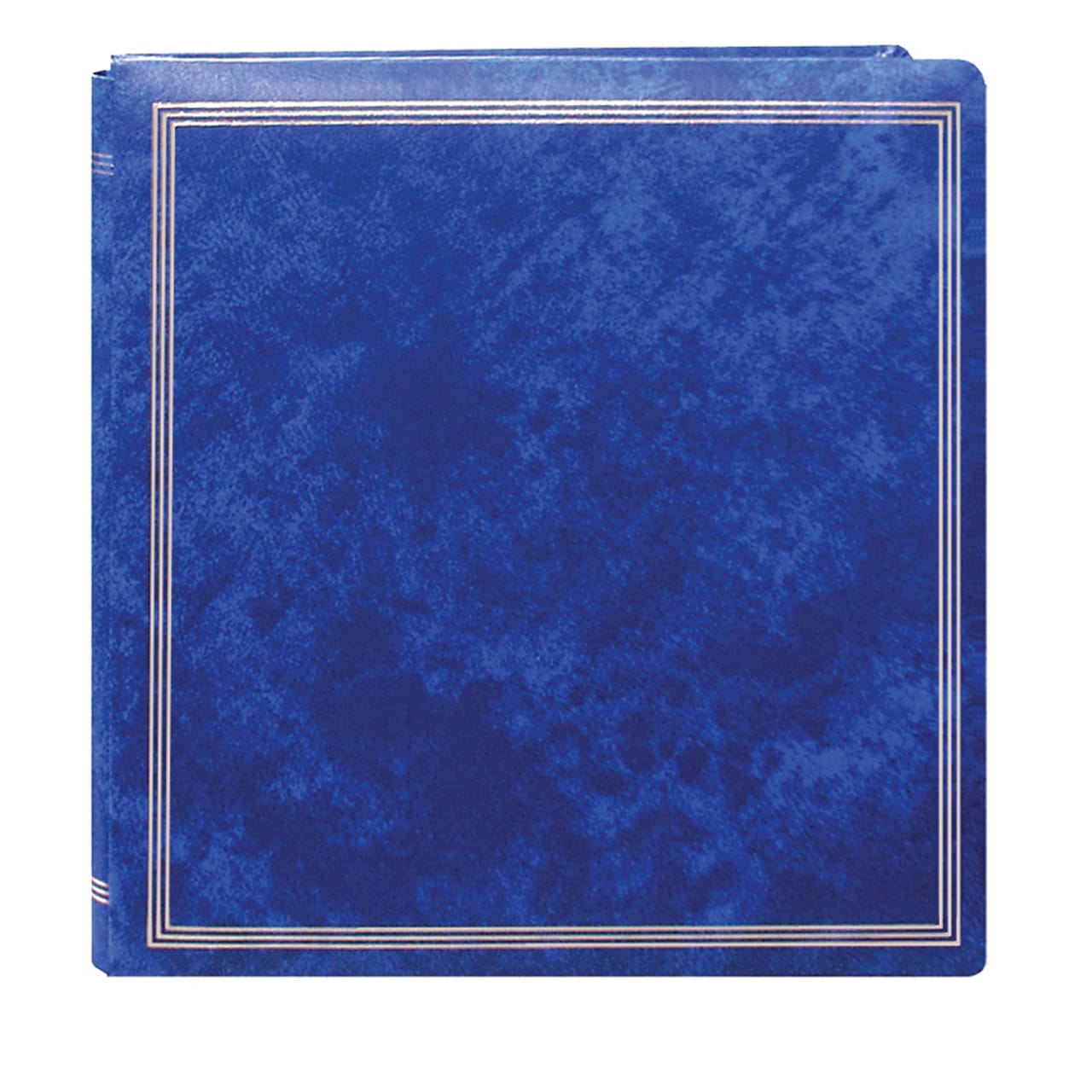 Pioneer Photo Albums Pioneer Postbound Deluxe Royal Blue Leatherette Cover X-Pando Magnetic Album with 2 bonus Refill Packs