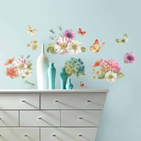 Roommates Lisa Audit Garden Bouquet Peel and Stick Wall Decals