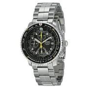 Best Seiko Watches For Men - Seiko Men's Flight Chronograph Steel Black Dial Watch Review