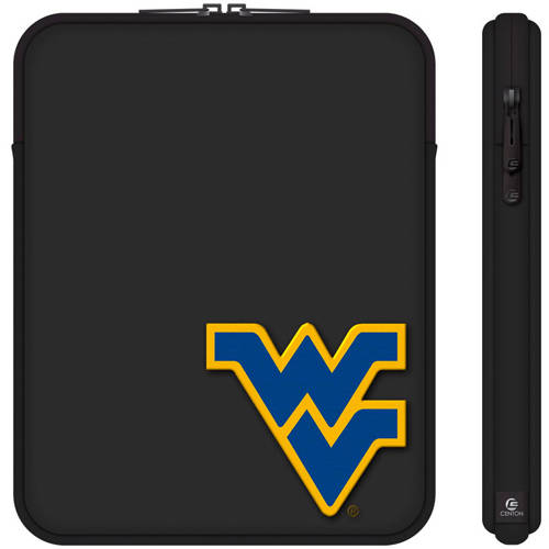 "Centon 10"" Classic Black Tablet Sleeve University of West Virginia"