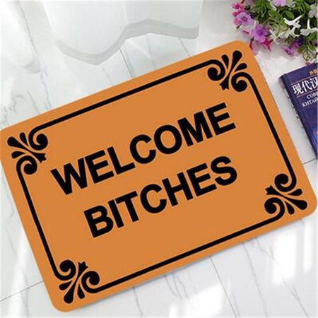 40*60cm Letter Funny Welcome Doormat Indoor/Outdoor Rubber Floor Mat Non Slip Carpet - Wedding Welcome Letter