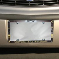American Logo Products Wyoming Cowboys License Plate Frame