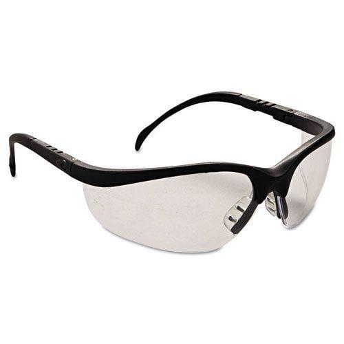 klondike safety glasses matte black frame clear lens 135
