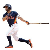 Jose Altuve Houston Astros Fathead Life Size Removable Wall Decal - No Size