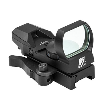 NcStar Red Reflex Sight 4 Reticles, QR Mount, Black, - Airsoft Sight