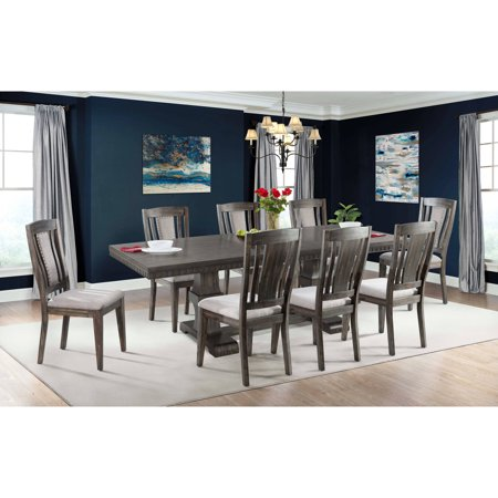 Picket House Furnishings Steele 9PC Dining Set- Table & 8 Wooden Chairs