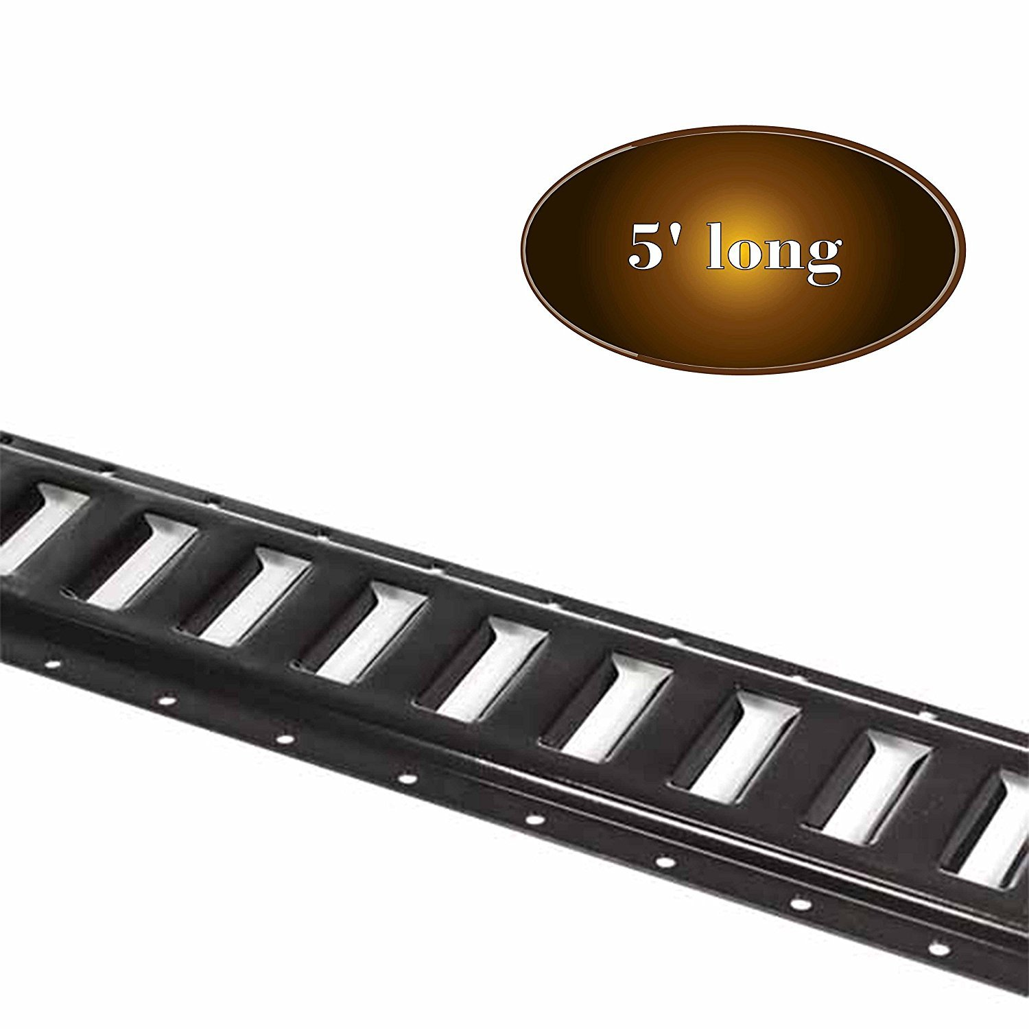 E-Track Basket E-Track Tie-Down Accessories 25 Pieces: 5 ft Black Rails DC Cargo Mall E Track Tie-Down Kit