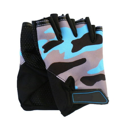 Kids Cycling Half Finger Gloves Boys Girl Bike Bicycle Scooter