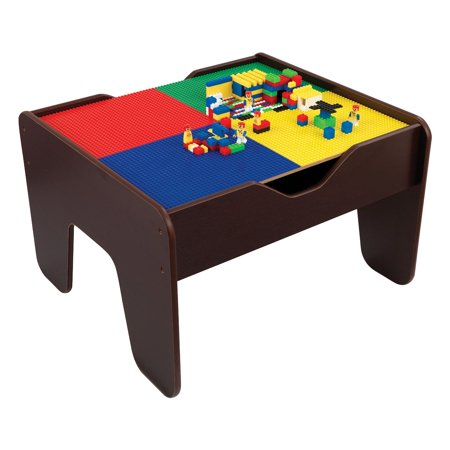 Kidkraft 2 in 1 activity table espresso for Table kidkraft