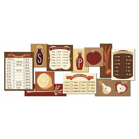 Kitchen Cooking Conversions Spices Canvas Wall Art Plaque 30 X 12