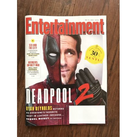 ENTERTAINMENT WEEKLY MAGAZINE MAY 11 2018 DEADPOOL 2 RYAN REYNOLDS AVENGERS F/S - Deadpool Halloween Ryan Reynolds
