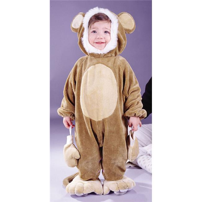 Costumes For All Occasions FW9684M Cuddly Monkey Todlr 6 12 Mo - image 1 de 1