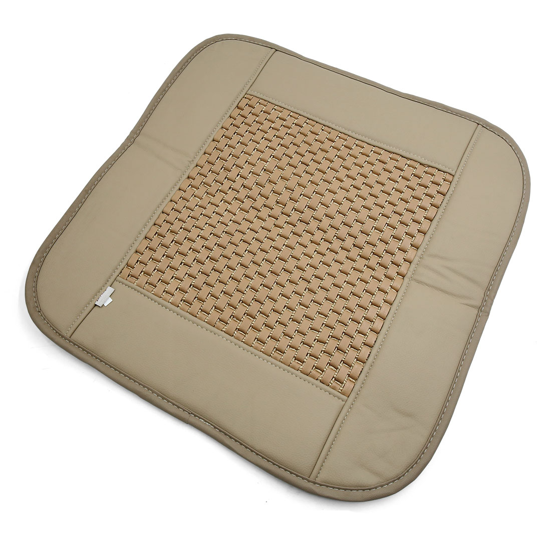 Universal Bamboo Charcoal Faux Leather Car Seat Cover Pad Mat Cushion Beige