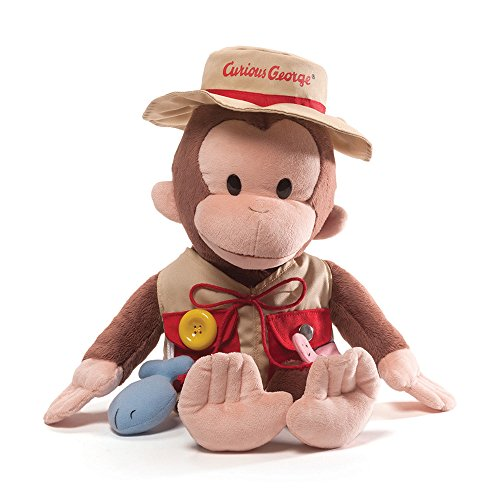 Gund Curious George Teach Me Fisherman Stuffed Toy Plush by Gund