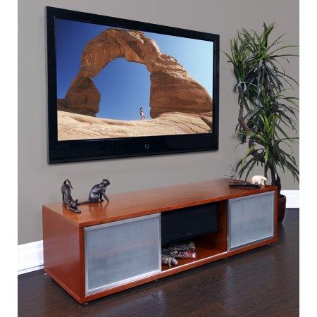 Glass Wide Credenza (Audio and Video Credenza with Storage - holds up to 70 Inch TV )