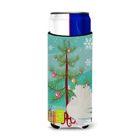 Silver Fantail Pigeon Christmas Michelob Ultra Hugger for Slim Cans - image 1 de 1