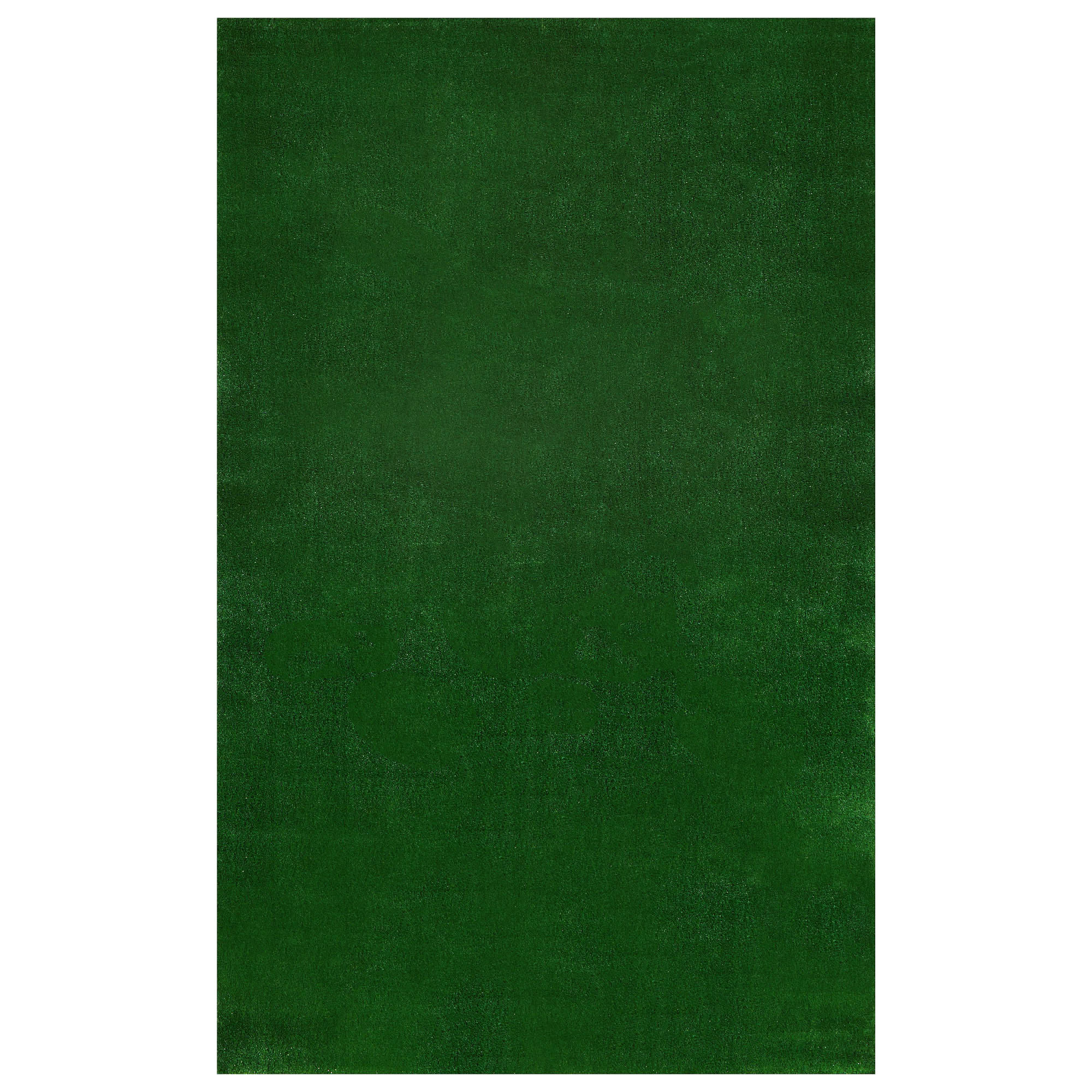 Ottomanson Evergreen Collection Indoor ; Outdoor, Patio Artificial Solid Green Grass Turf Design