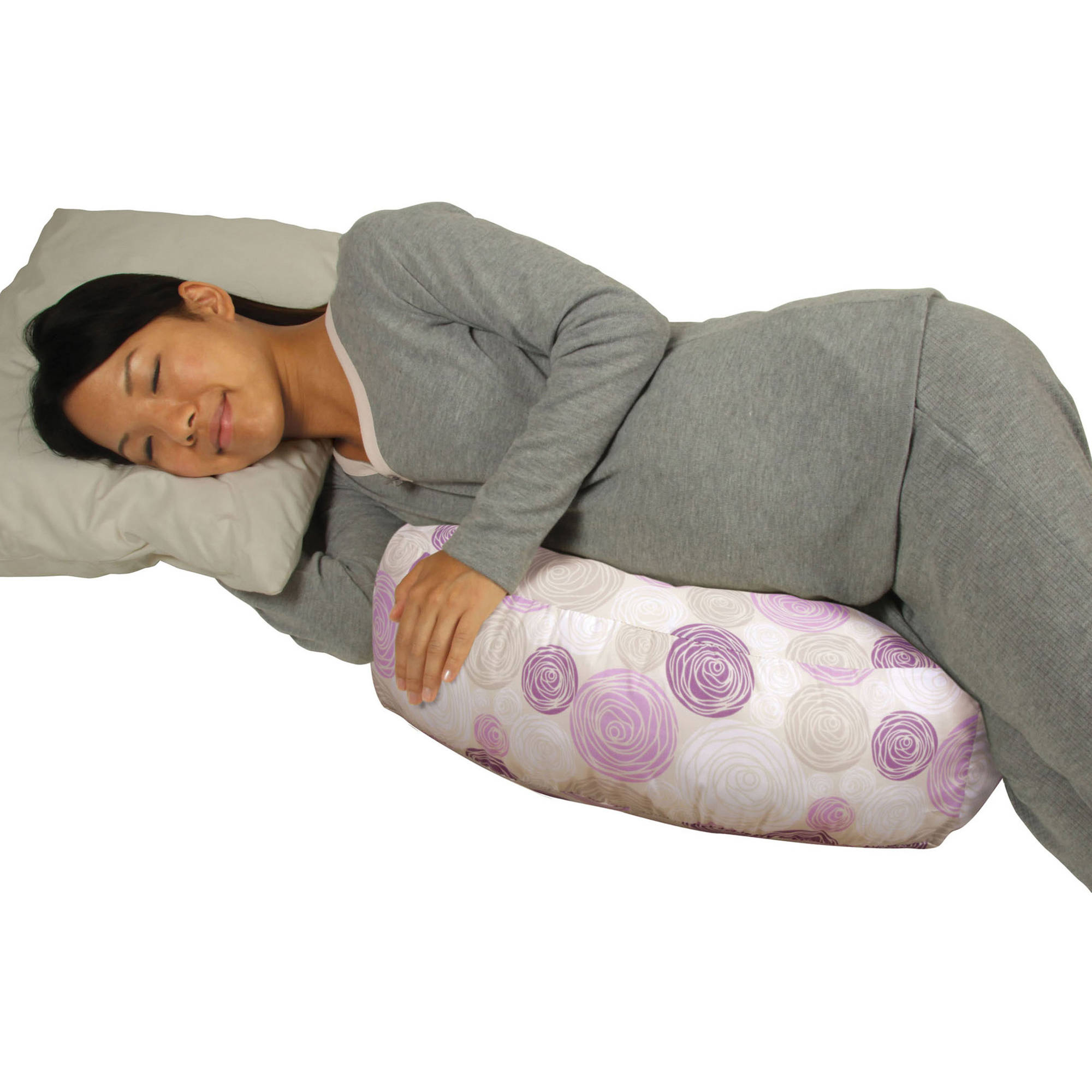 Leachco Cush Up Compact Side Sleeper Pillow, Petal Rounds Purple