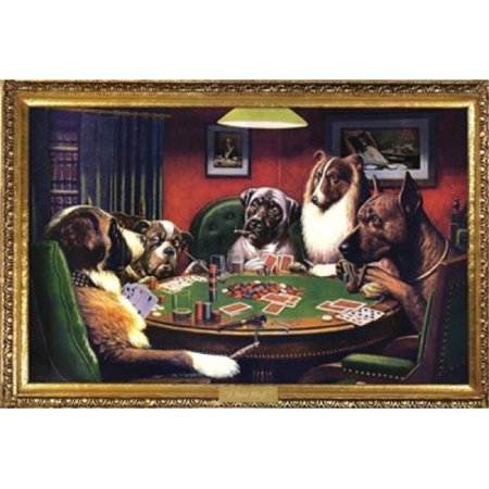 (Dogs Playing Poker - Cassius Marcellus Coolidge Poster Print, 36 x 24)